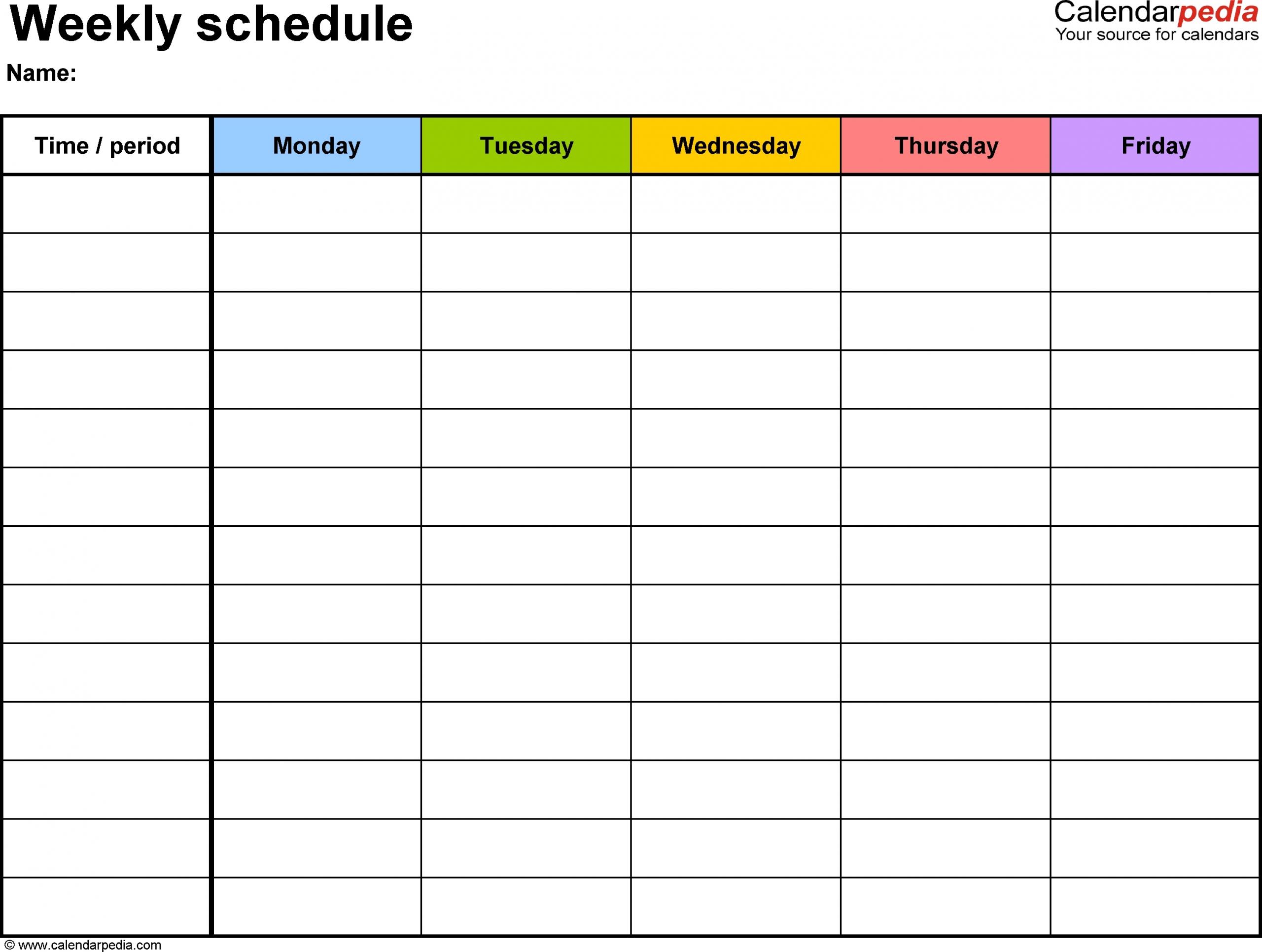 5 Day Calendar Template Free - Calendar Inspiration Design