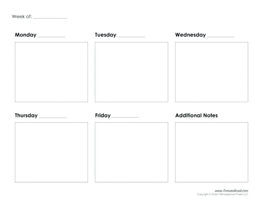 5 Day Week Calendar Template Excel – Template Calendar Design