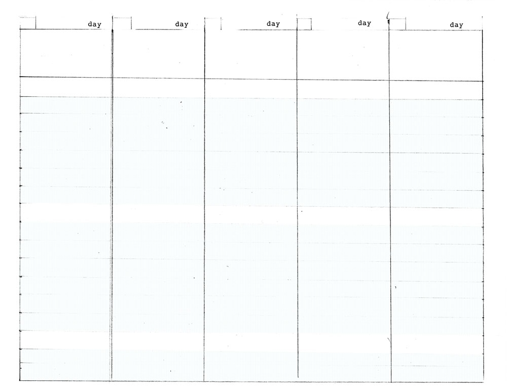 5 Day Work Week - Diy Planner Template