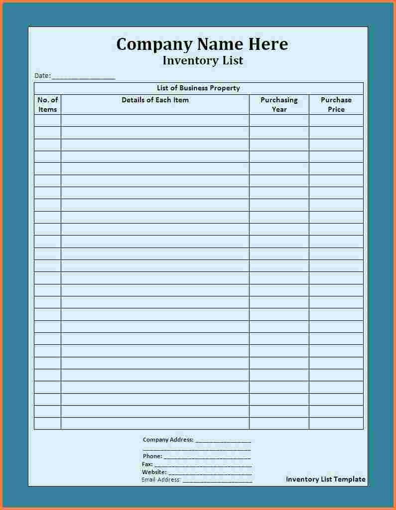 5+ Supply Inventory Spreadsheet Template | Excel