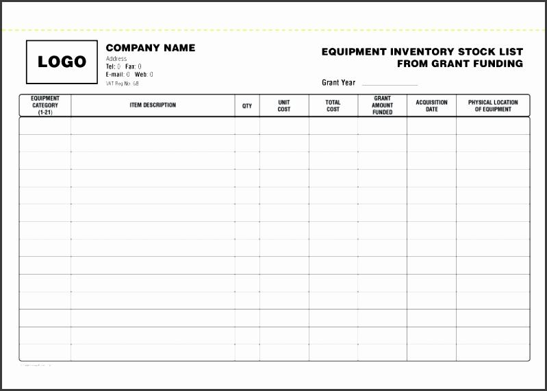 7 Inventory Checklist Template - Sampletemplatess