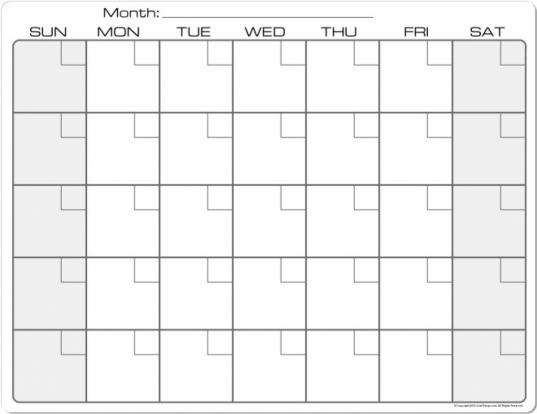 8 5 X 11 Calendars Printable | Printable Calendar Template