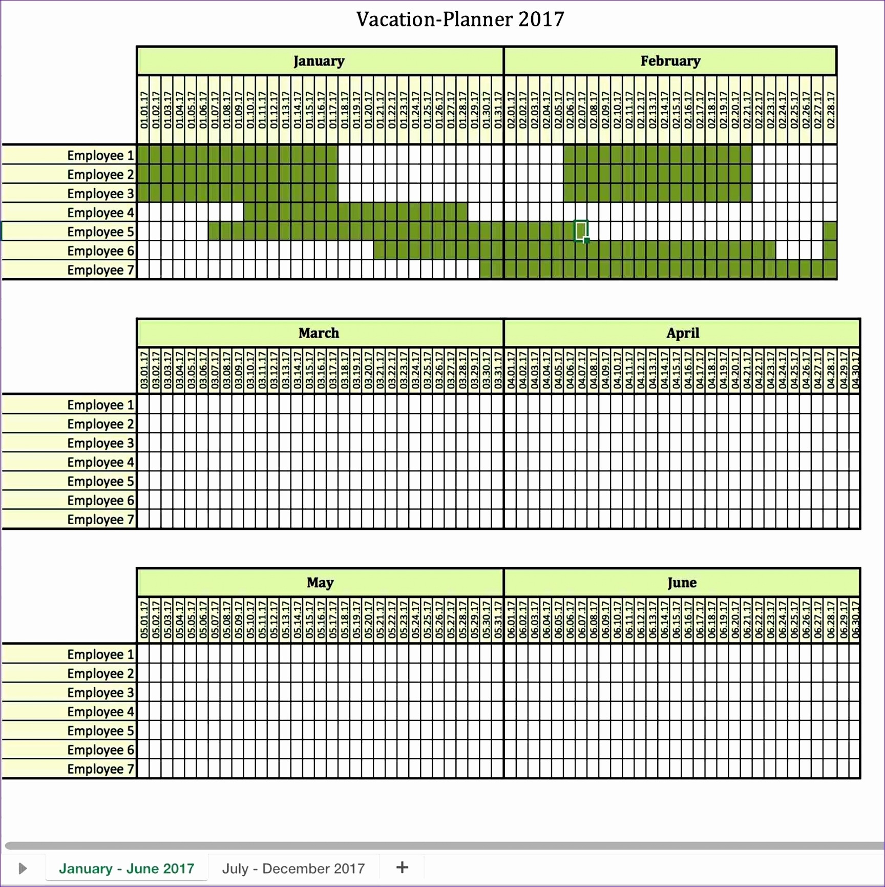 8 Monthly Employee Work Schedule Template Excel - Excel