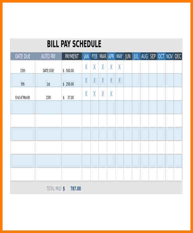 9+ Monthly Bill Pay Template | Sample Travel Bill