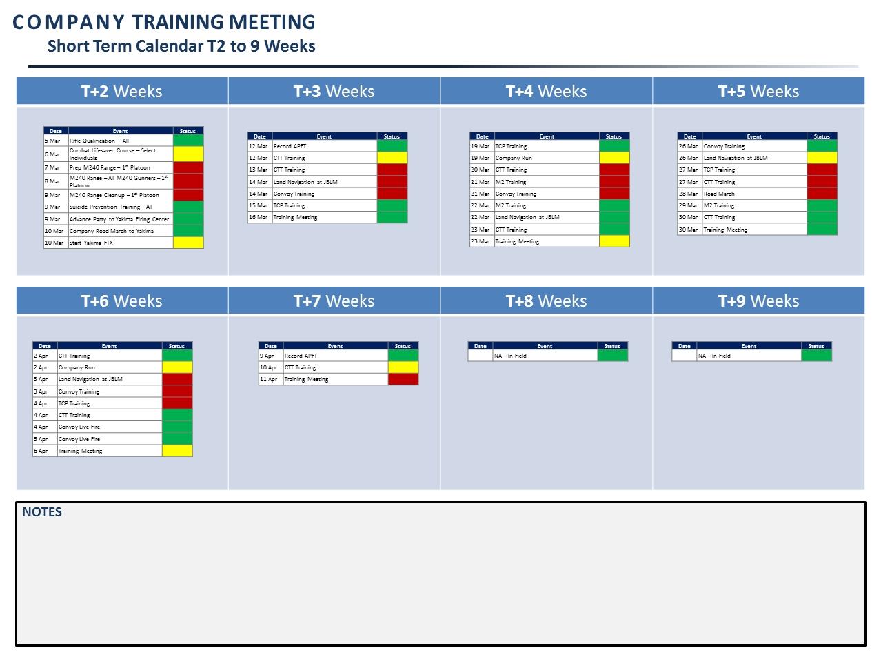A Company Training Meeting Template | Modernpresenter
