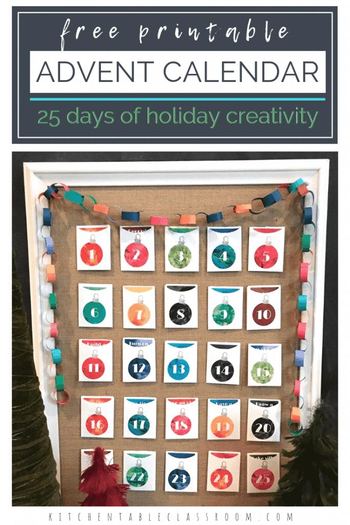 A Diy Advent Calendar For Your Little Artist - The Kitchen