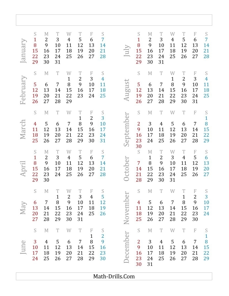 A Leap Year Calendar | Ten Free Printable Calendar 2020-2021