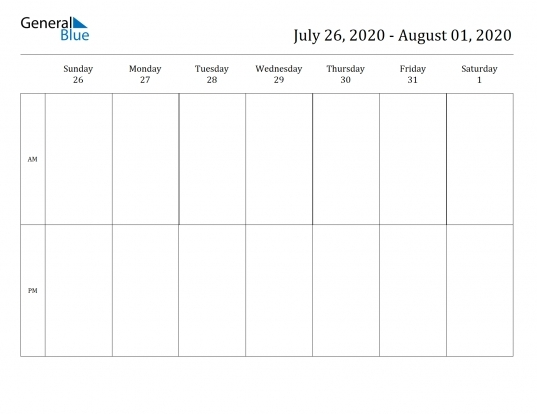 Am Pm Monthly Calendars | Printable Calendar Template 2020