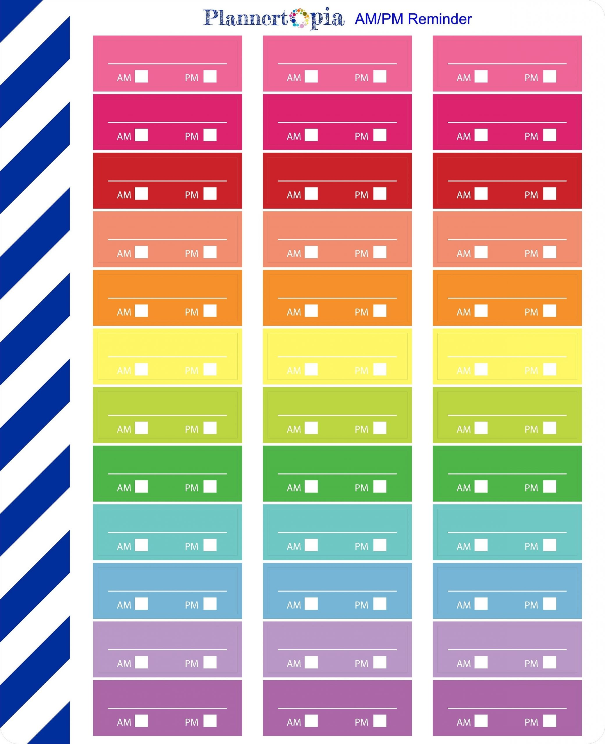 Am Pm Reminder Labels Planner Stickers Planner Stickers | Etsy