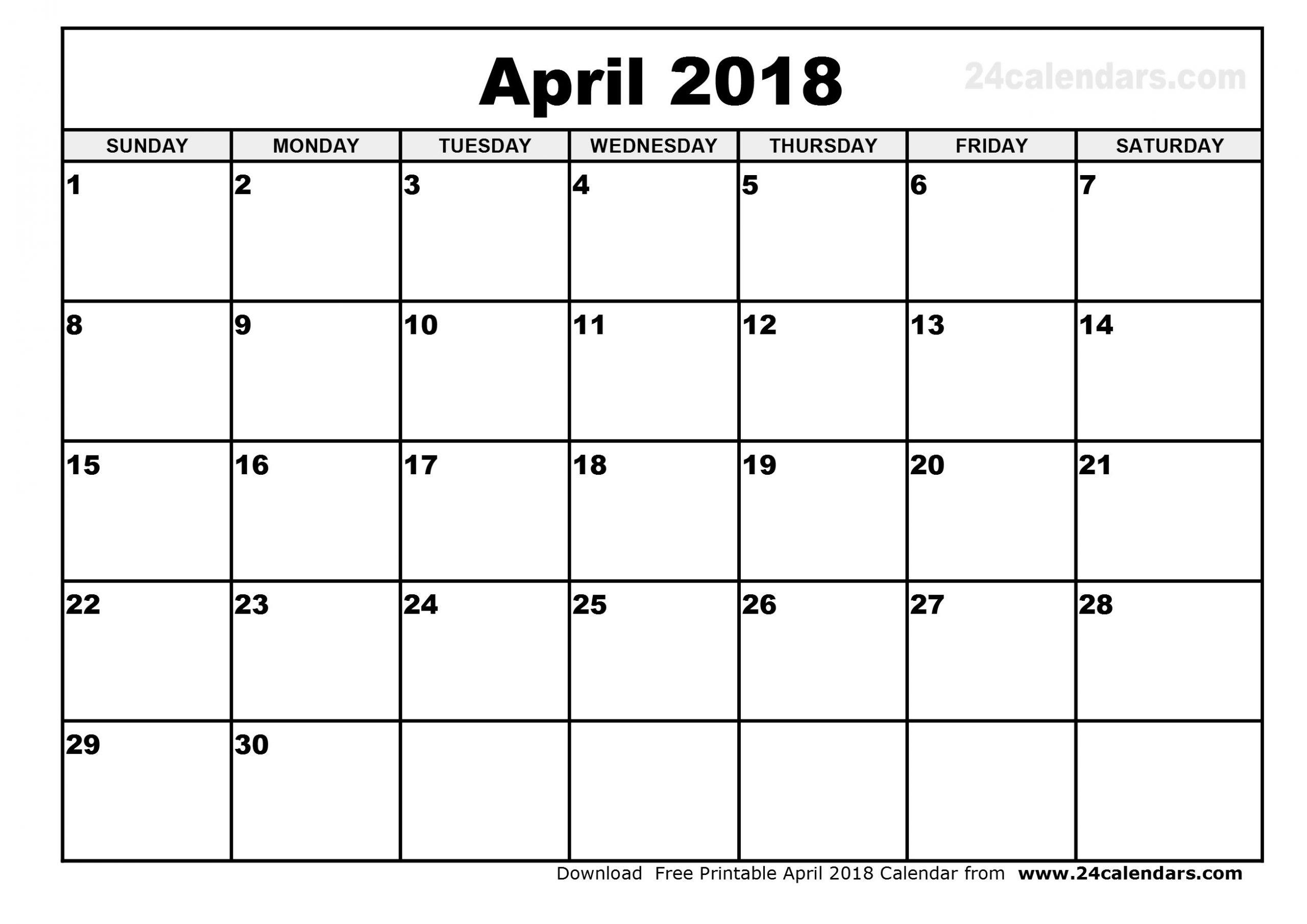 April 2018 Calendar Vertex | Qualads