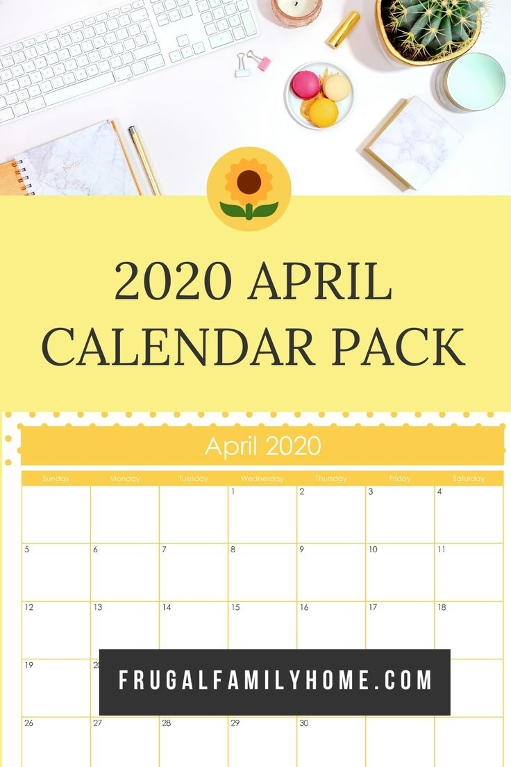 April Calendar Pages To Print In 2020 | Editable Calendar