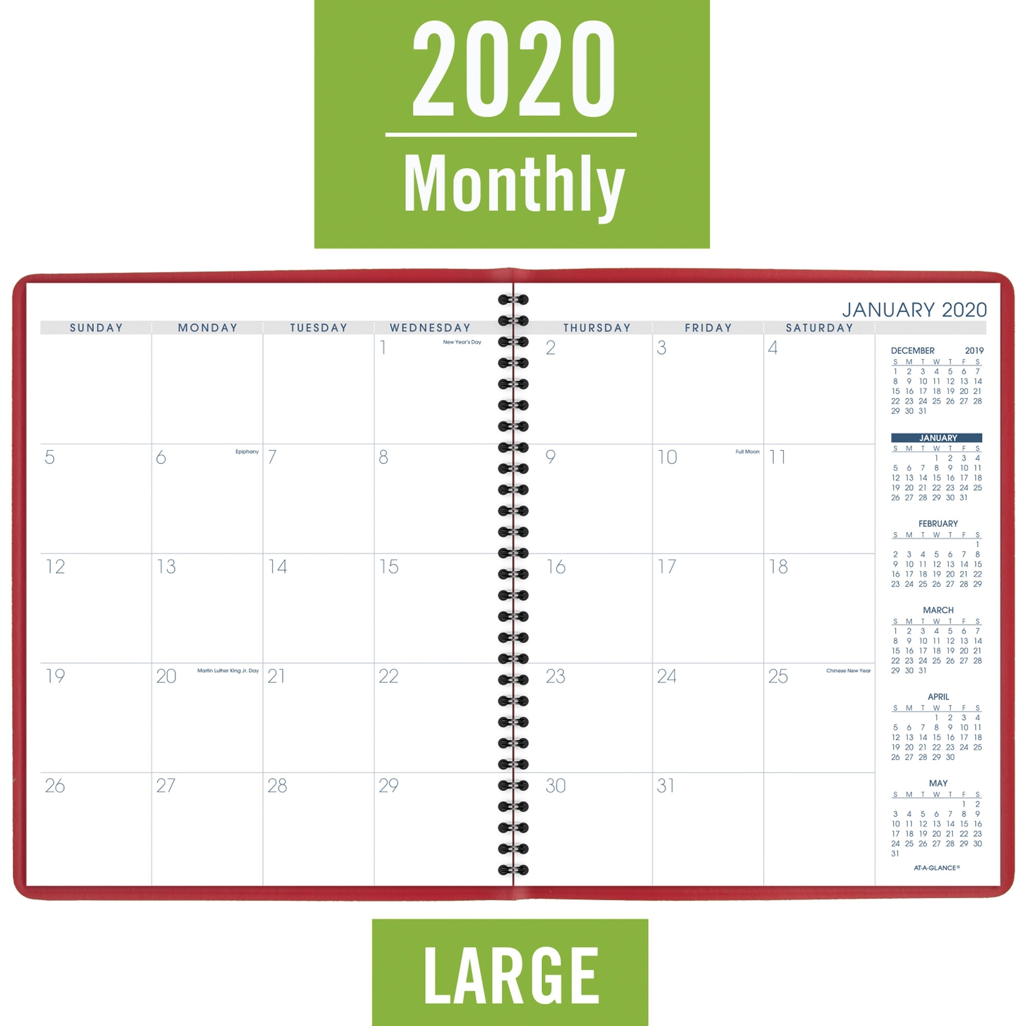 At-A-Glance Fashion Color Monthly Planner - Julian Dates
