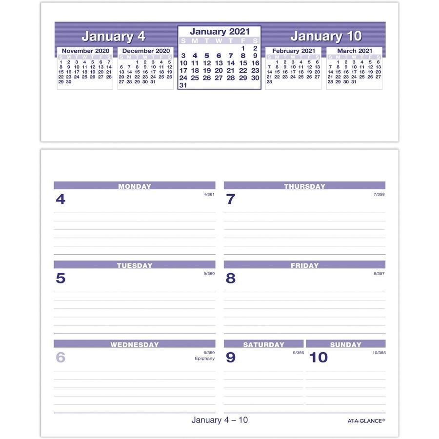 At-A-Glance Flip-A-Week Desk Calendar Refill - Julian