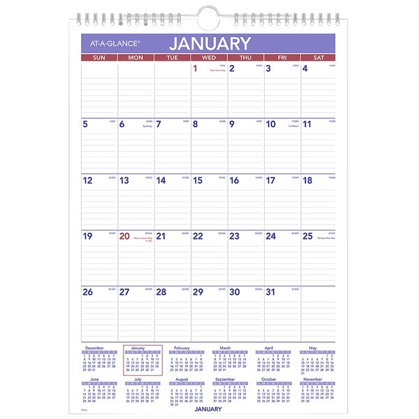 "At-A-Glance Pm228 12"" X 17"" Monthly January 2021"