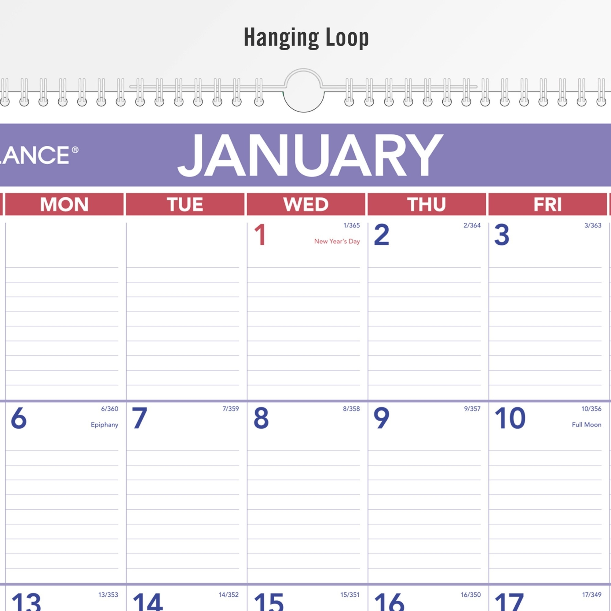 At-A-Glance Recycled Monthly Wall Calendar - Julian Dates