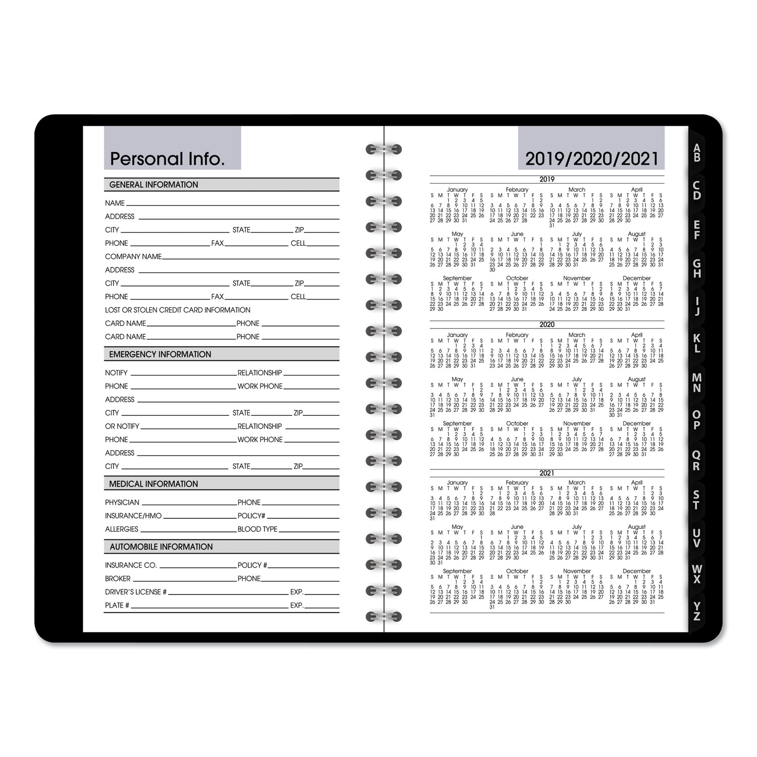 At-A-Glance Weekly Pocket Appt. Book, Telephone/Address