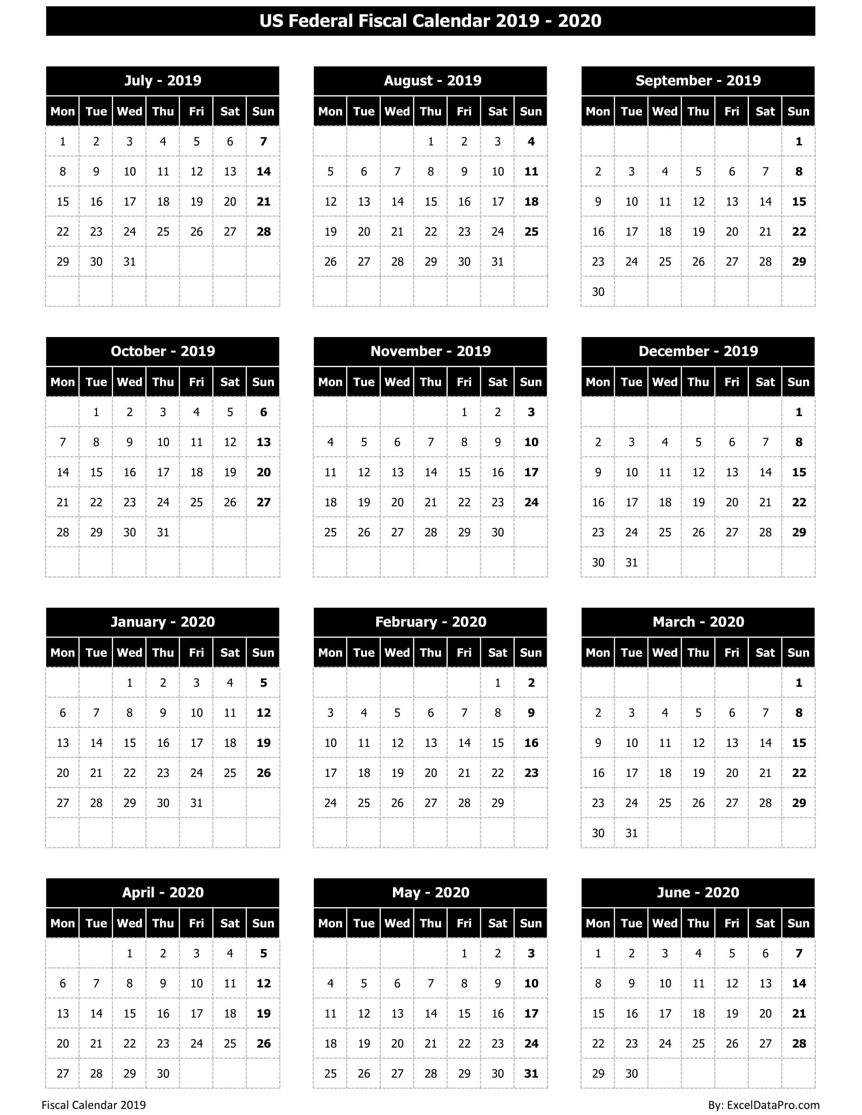 Australian Financial Year Calendar – Template Calendar Design