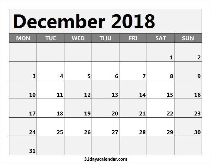 Available Dec 2018 Calendar Usa | 2020 Calendar Template