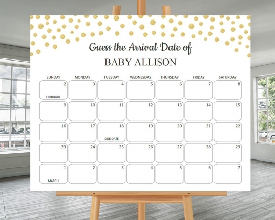 Ba Due Date Prediction Calendar Game