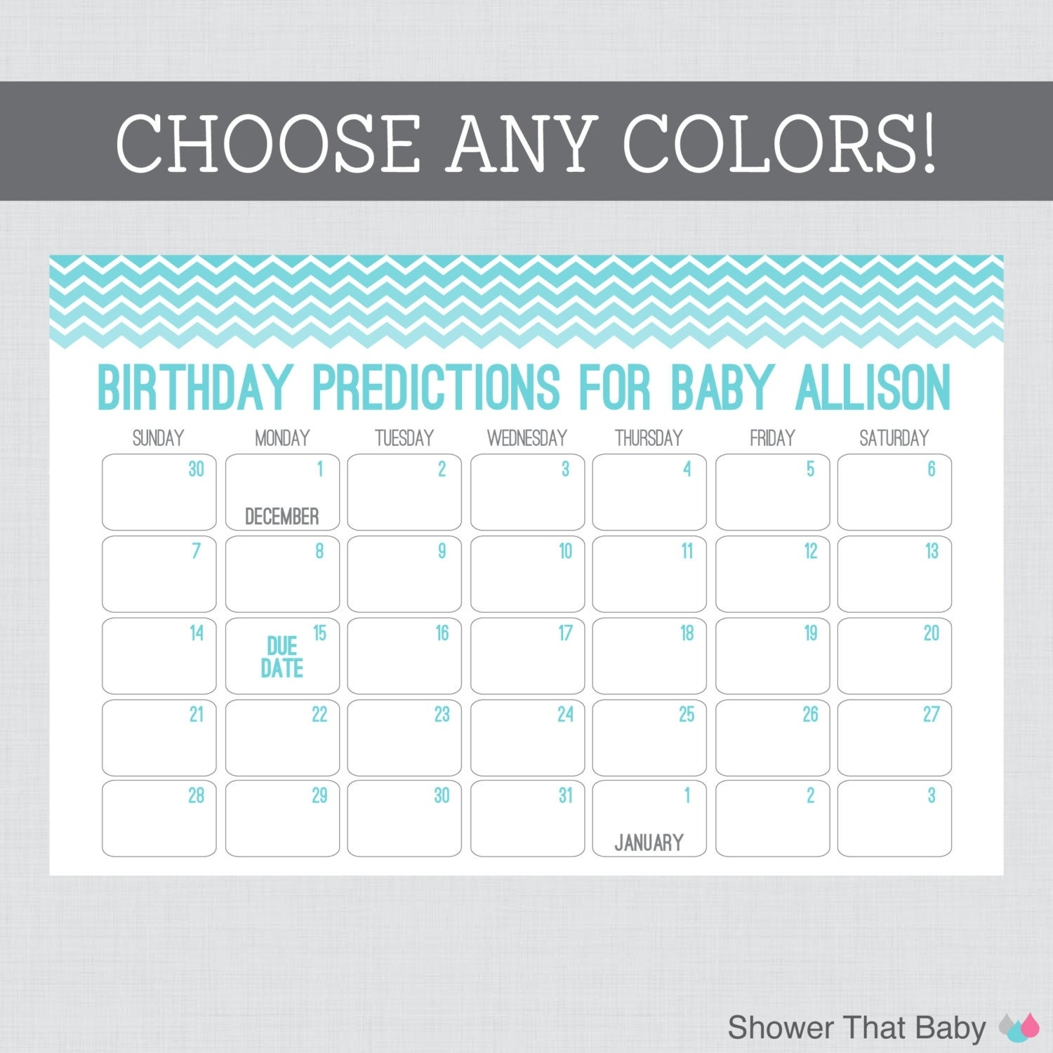 Baby Shower Guess Due Date Free Template | Search Results