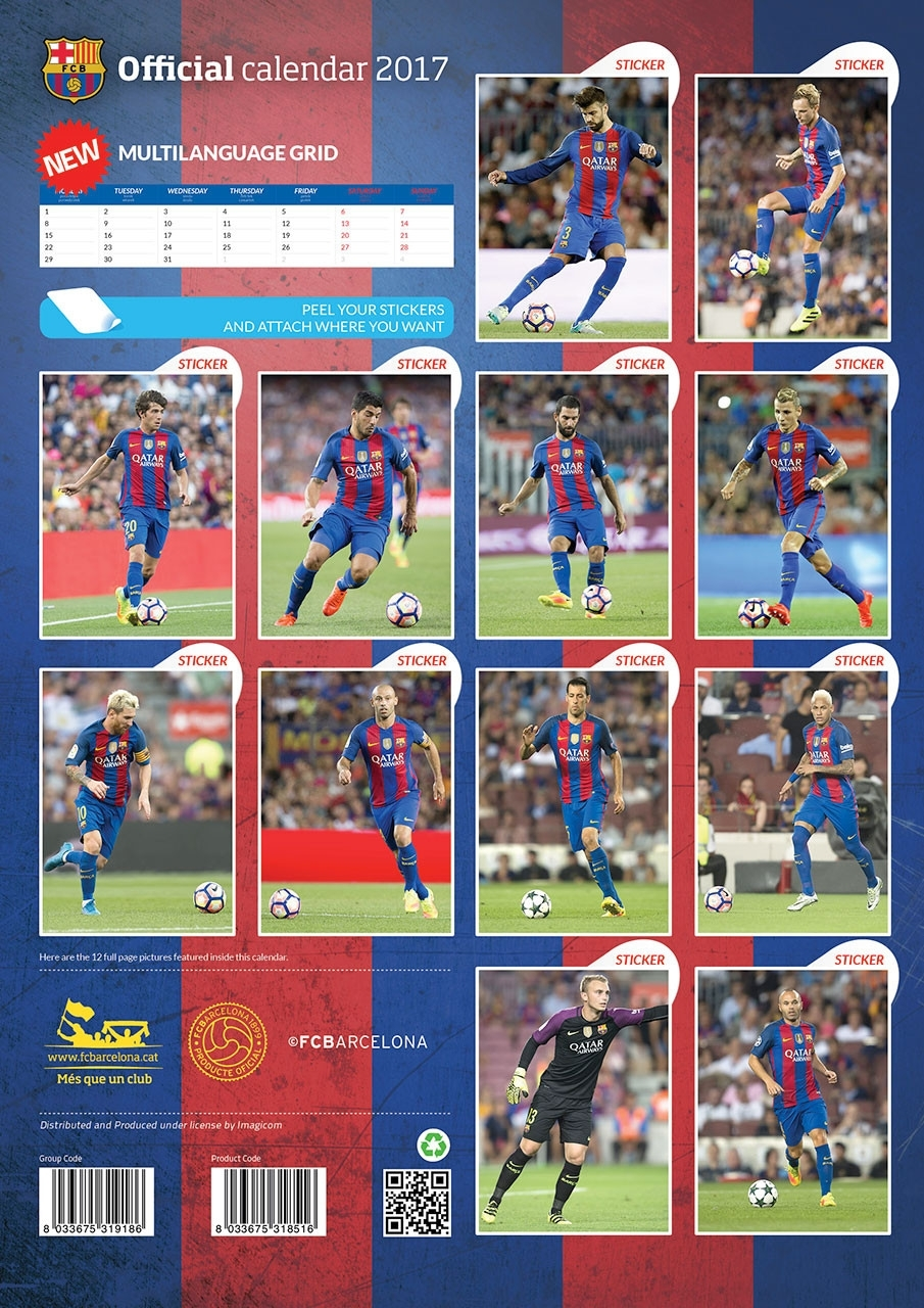 Barcelona + 12 Free Stickers - Calendars 2021 On Ukposters