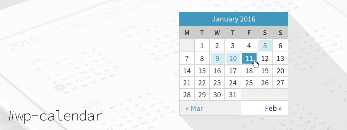 Better WordPress Calendar Widget Css Styles (+Sass Examples)