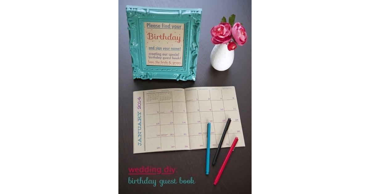 Birthday Calendar Guest Book | Free Wedding Guest-Book