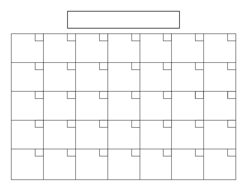 Blank Calander Template Unique Blank Calendar With 31 Day