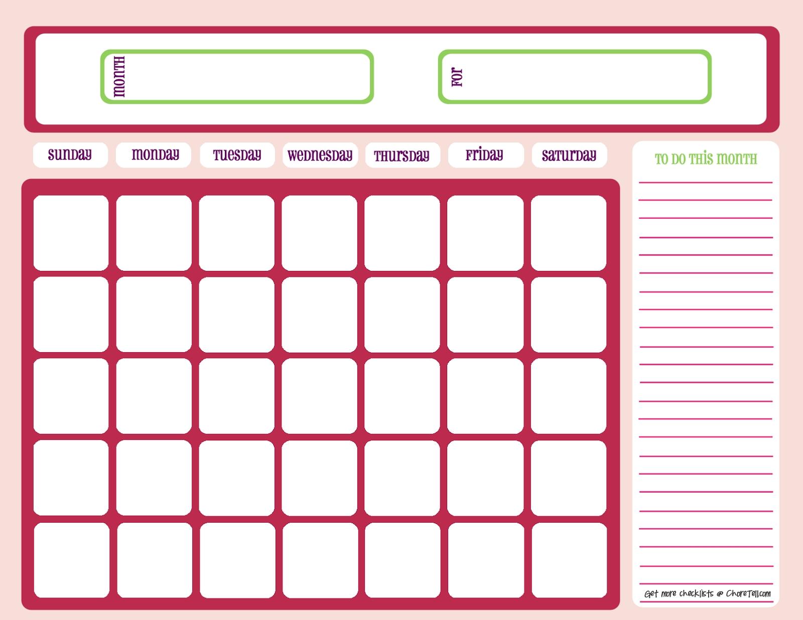 Blank Calendar 2013 - 2014 | 2016 Blank Calendar