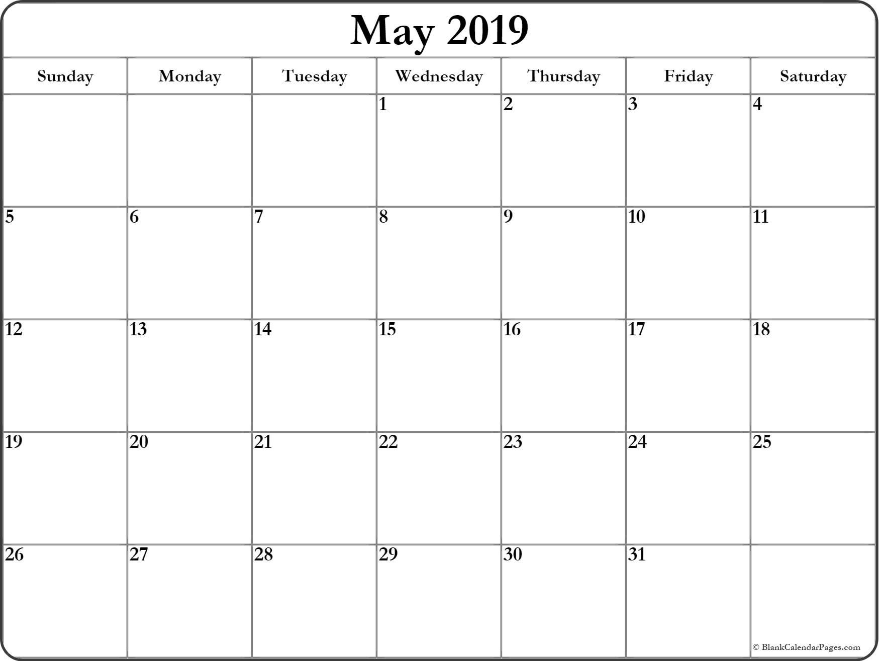Blank Calender 31 Days   Example Calendar Printable
