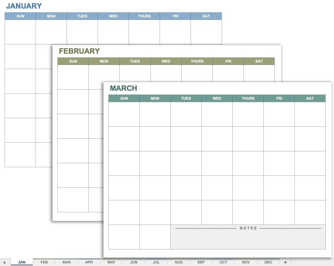 Blank Printable Calendar With No Dates | Example Calendar