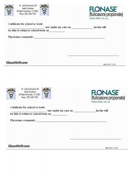 Blank Printable Doctor Excuse Form Iu Health | Printable