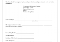 Blank Return To Work Note   Free Download In 2020 | Doctors