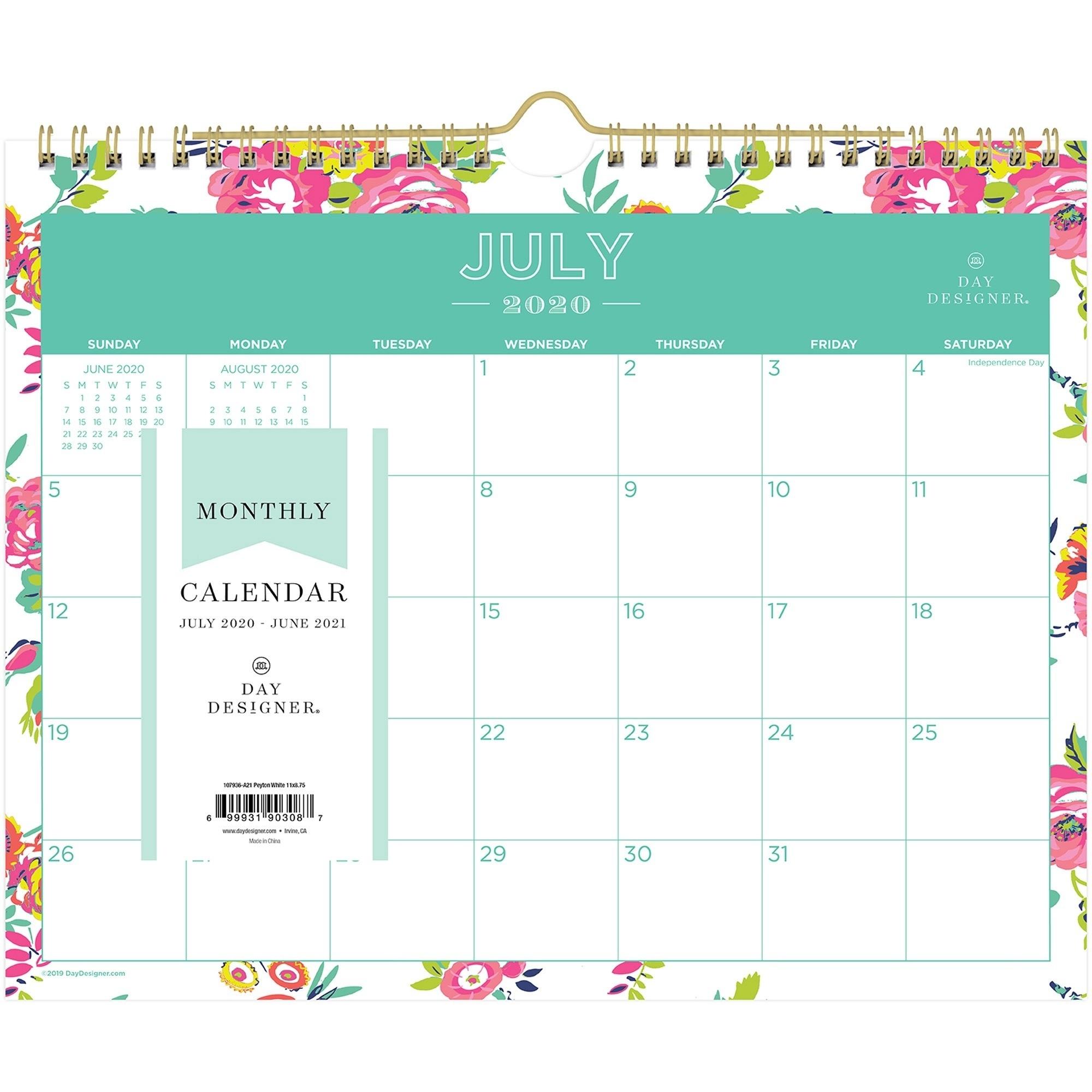 Blue Sky Peyton Floral Academic 11X9 Wall Calendar