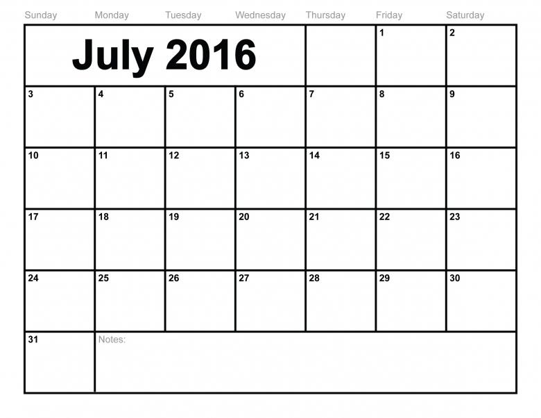 Calendar 2016 Monthly :-Free Calendar Template
