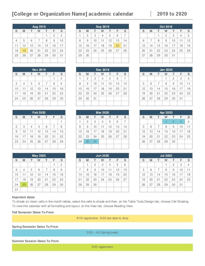 Calendar 2019-2020 365 - Calendar Inspiration Design