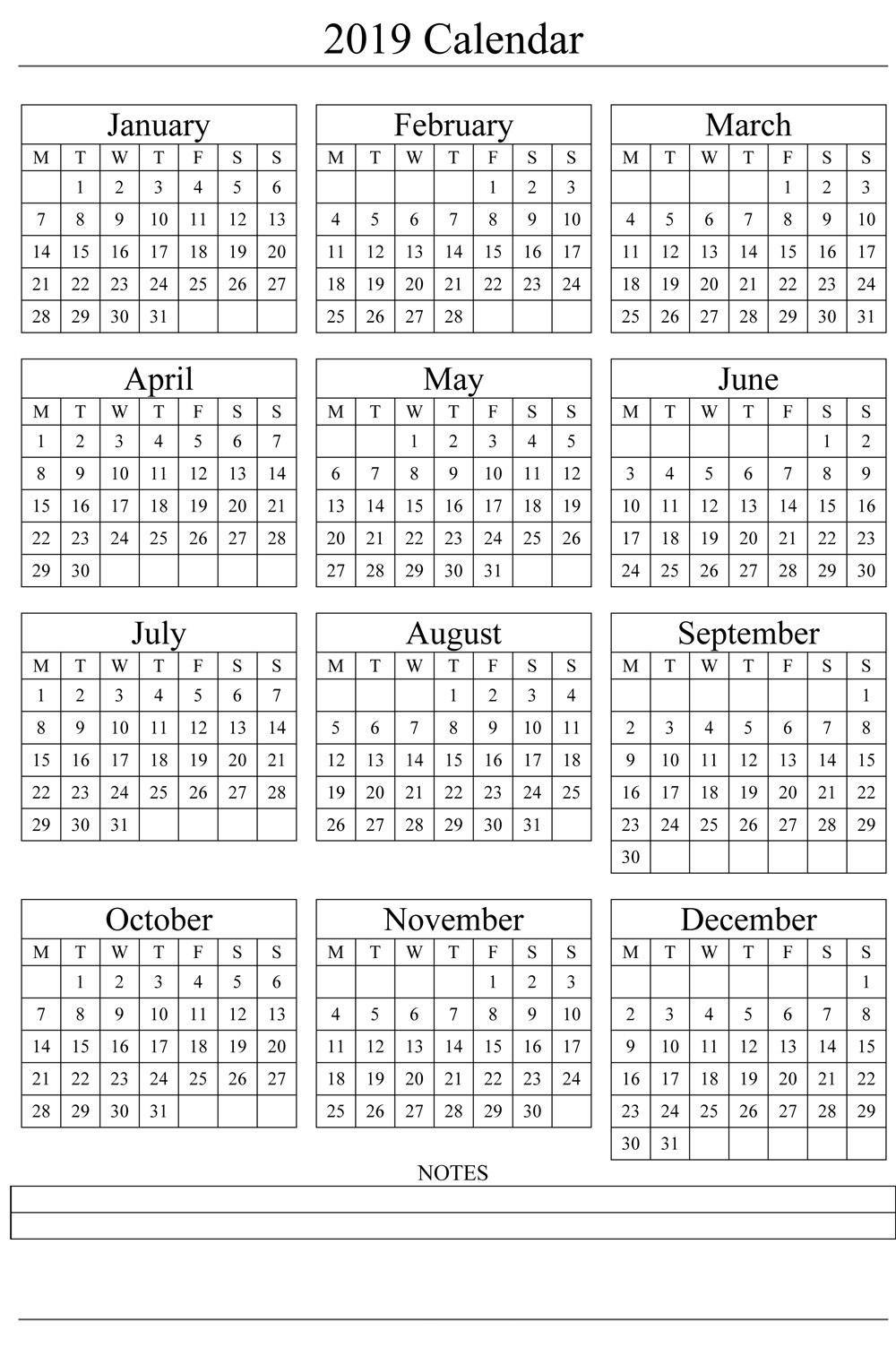 Calendar 2019 Pdf | Calendars