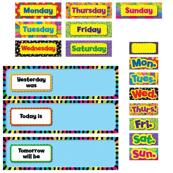 Calendar Bulletin : Poppin' Patterns Days Of The Week Mini