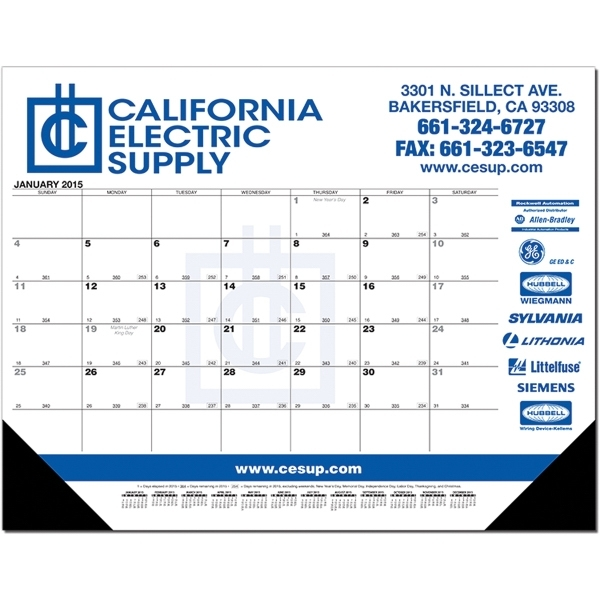Calendar Desk Pad With Julian And Contractor Dates