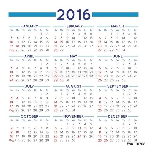 Calendar Docx 2016 | Calendar Template 2020