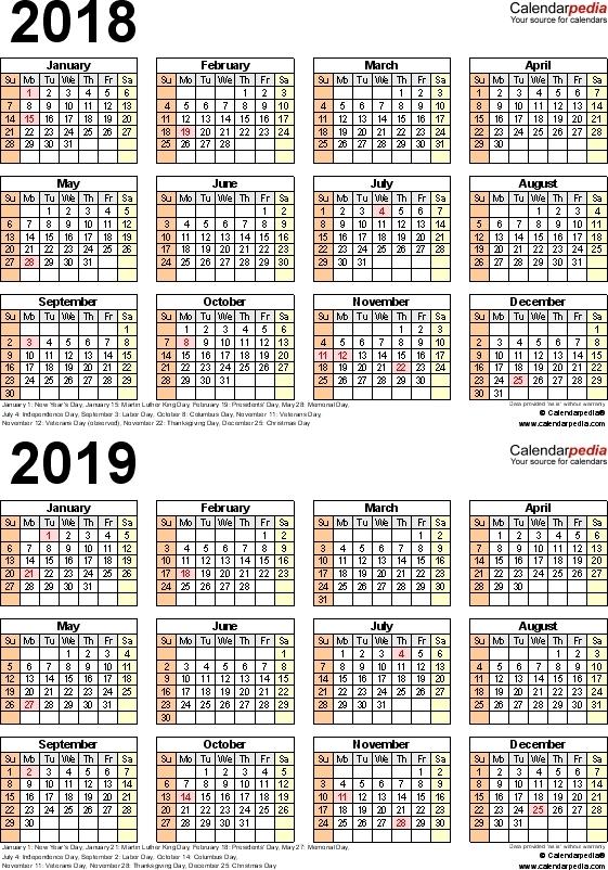 Calendar Template Design - Design Calendar
