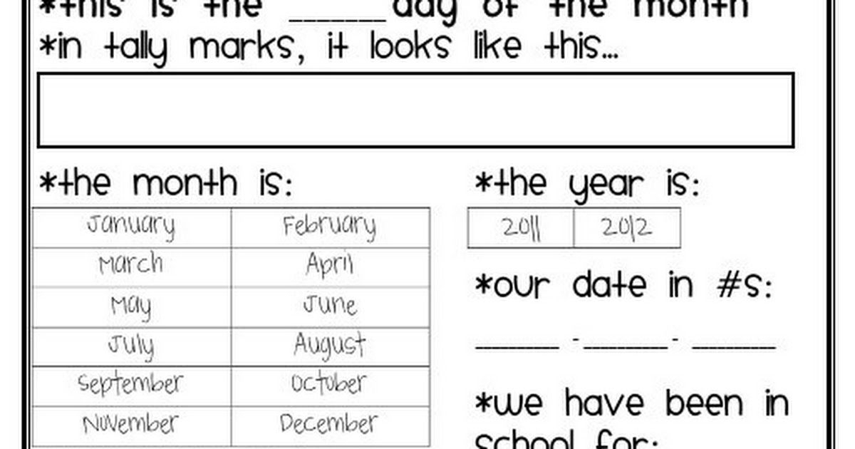 Calendar_Journal-2.Pdf | Calendar Time Kindergarten