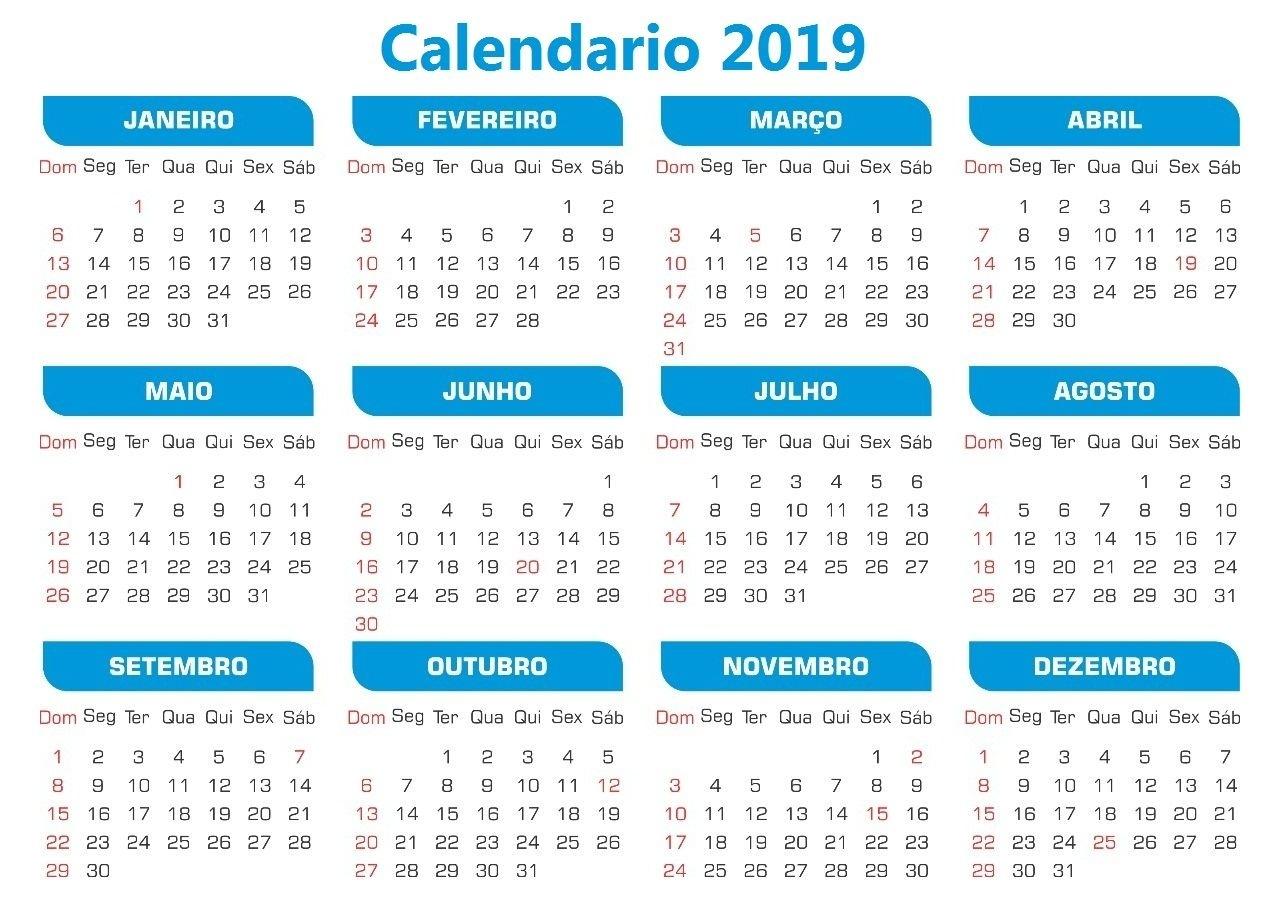 Calendário 2019 Da Stampare | Idéias De Ensino, Partituras