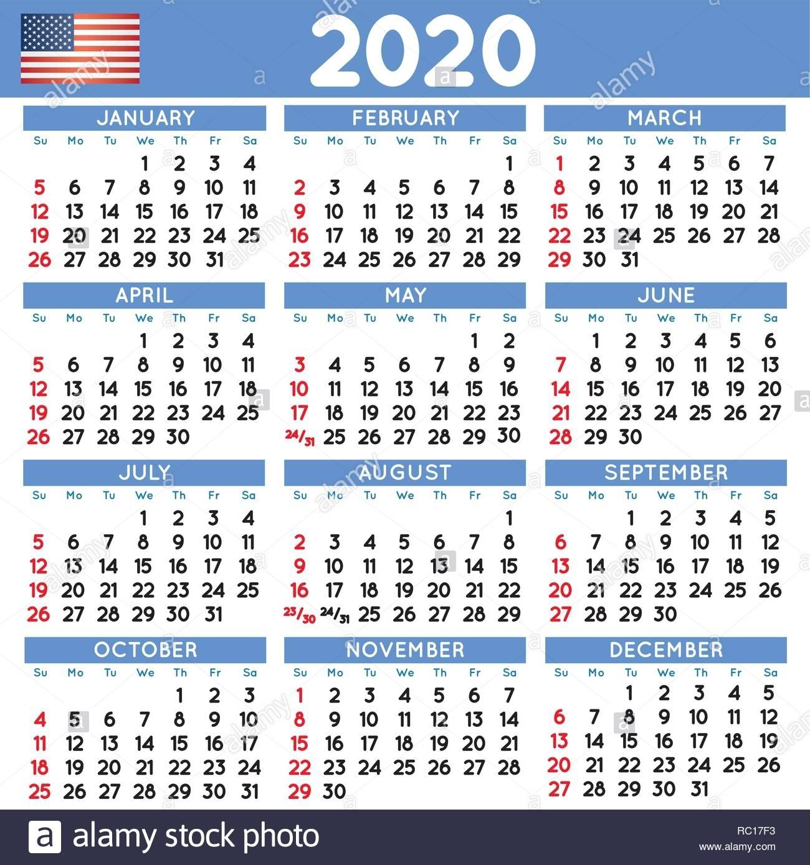 Calendario 2020 English - Calendario 2019