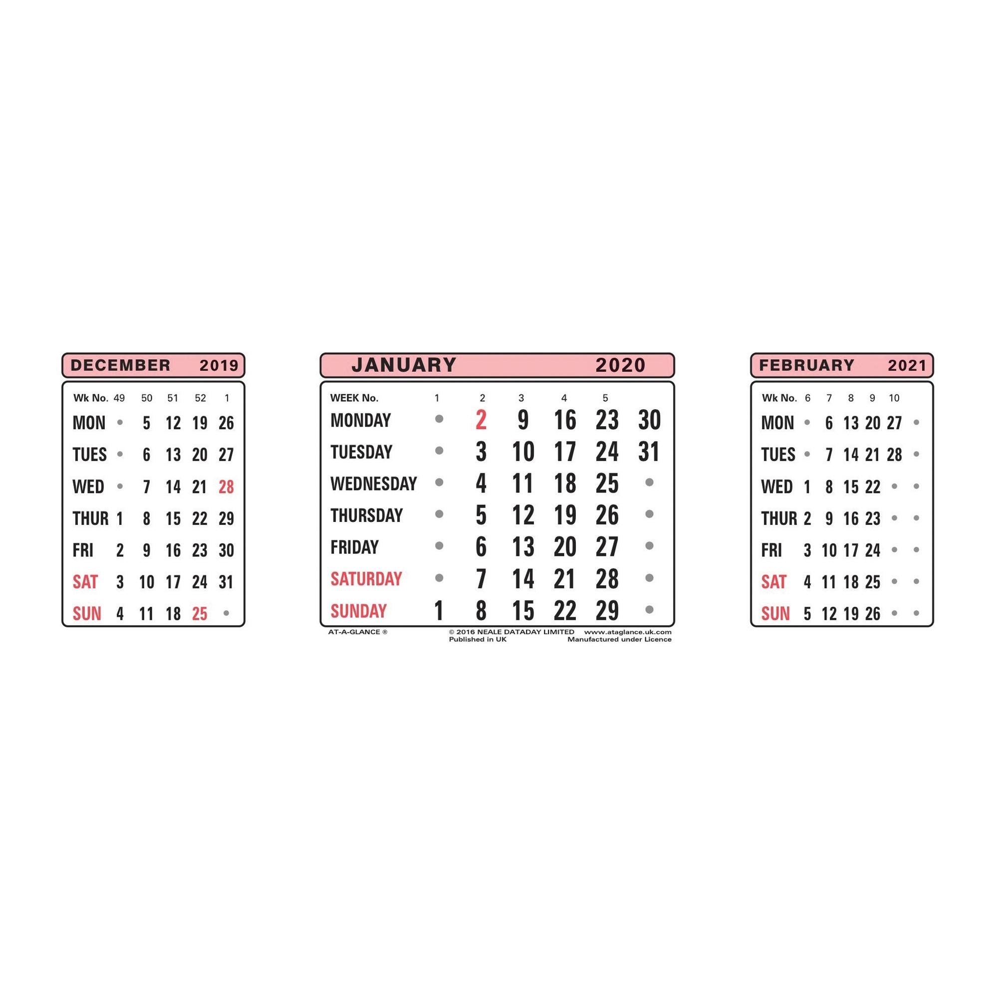 Calendars - Office Range