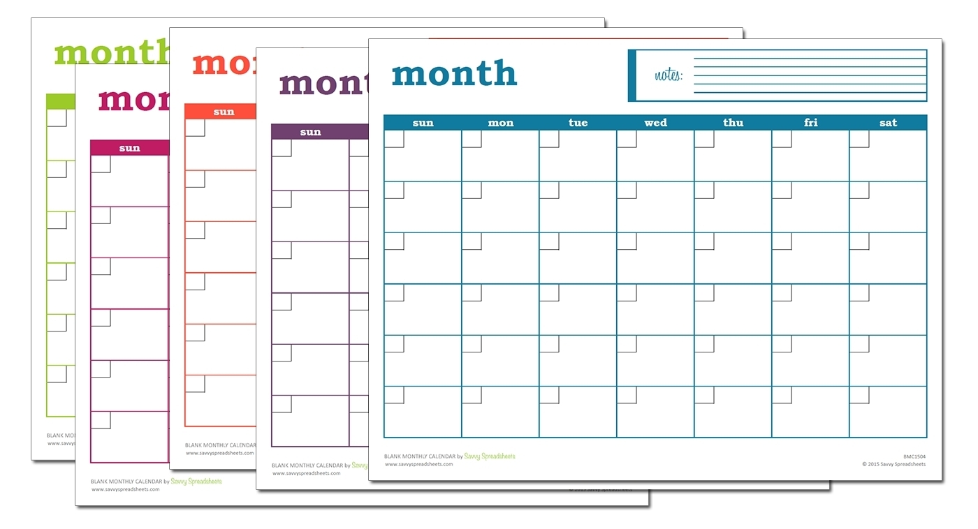 Catch Blank Monthly Calendar With Lines ⋆ The Best