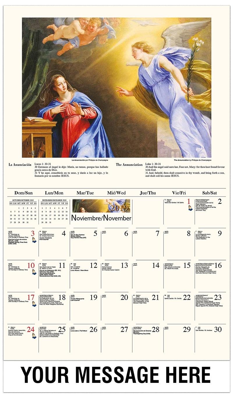 Catholic Art Promotional Calendar | Bilingual Spanish