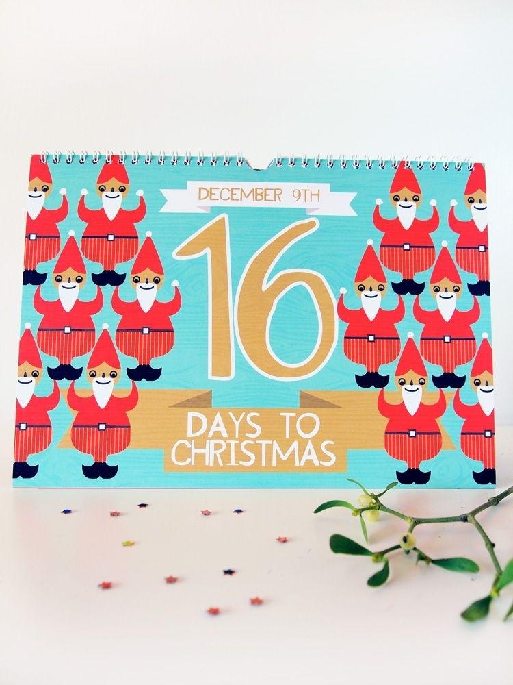 Christmas Countdown Advent Calendar, Nordic Christmas