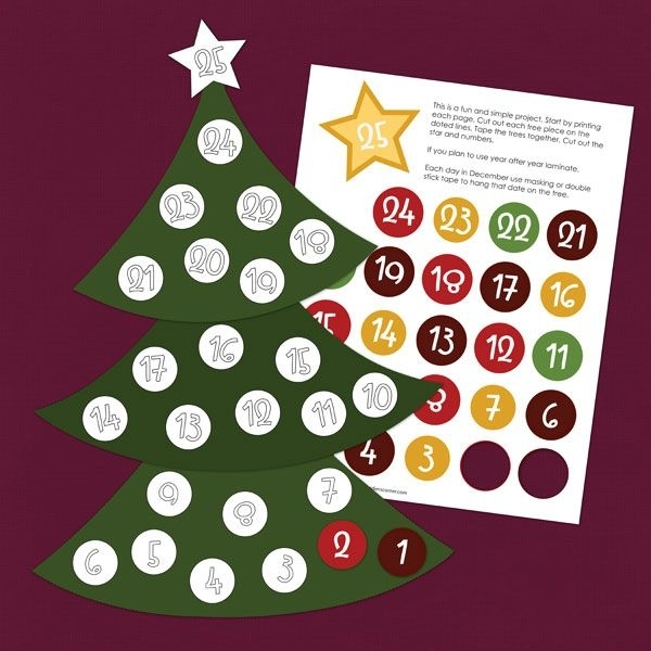 Christmas-Countdown-Ez-Print-Activity | Fun With The