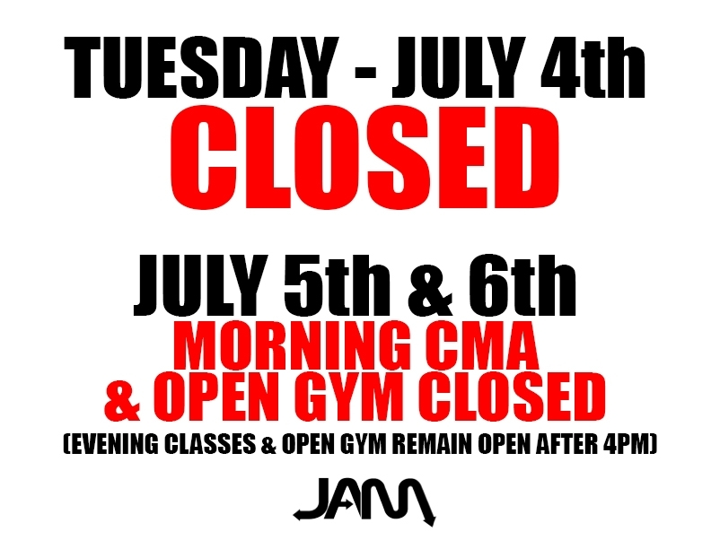 Closed July 4Th! Special Hours: July 5Th & 6Th